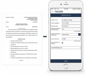An example showing at a glance how to create an order via the Child Expense Tracker app
