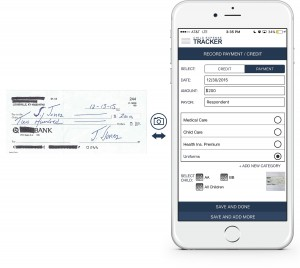 An example showing at a glance how to record a payment into the Child Expense Tracker app